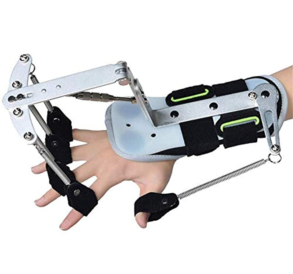 曲小麦墓手首OrthoticsAdjustableフィンガー、フィンガートレーナーハンドリハビリトレーニング指装具脳卒中片麻痺患者のあこがれ演習修復のため