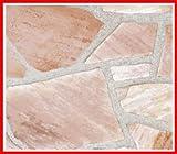 アルビノピンク ( 乱形 石材 )1ケース約0.5m2入 ガーデニング 石材
