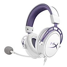 HyperX Cloud Alpha Gaming Headset - White/Purple - Limited Edition for PC, PS4 & Xbox One, Nintendo Switch - HX-HSCA-PL