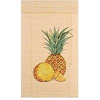 TINGTING カーテン・ブラインド, パイナップルプリント竹製カーテンロールアップブラインドパンチインストール簡単に掃除 (色 : ウッド うっど, サイズ さいず : 50*100)