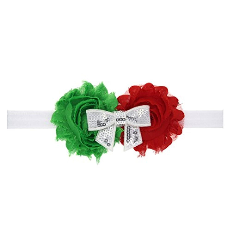 Zhhlinyuan ベビー小物 Sequins Bowknot Hairband ヘアアクセサリ Baby Girl Christmas Infant Headdress for Costume