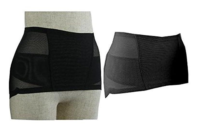 創始者種類敬の念履くタイプのマイナスイオン骨盤サポーター トルマリン ゲルマニューム 男女兼用 ブラック (Lウエスト72~82cm ヒップ88~102cm)
