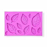 リーフPineブナElder CottonwoodチェリーMagnoliaローズMulberry Leavesシリコン金型–Baking、Cakingとクラフトツールからbakell
