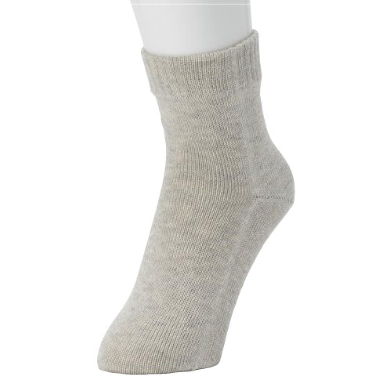 電気的に機会冷えとり?重ね履きに最適!本物シルクの 「くつしたの下」 Outer ソックス  <婦人用?ヘザーグレー>