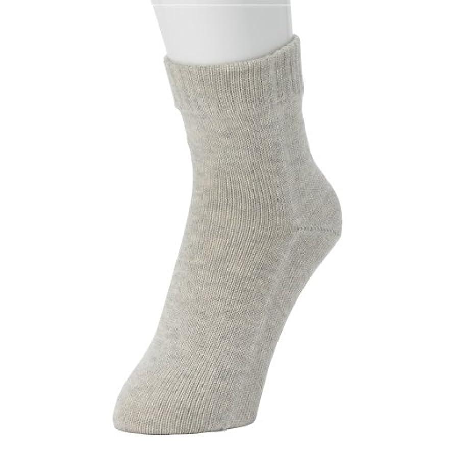 ブルゴーニュ中級溶接冷えとり?重ね履きに最適!本物シルクの 「くつしたの下」 Outer ソックス <婦人用?ヘザーグレー>