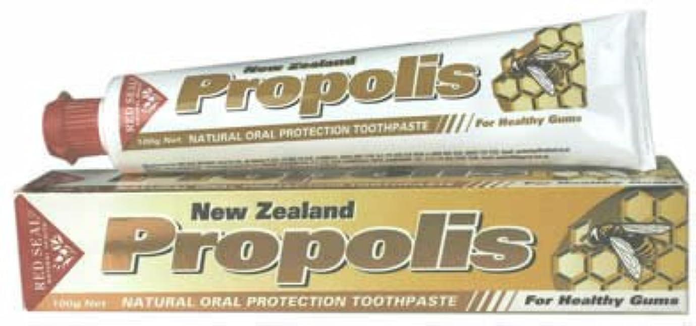 不当大の中でプロポリス(歯磨き粉)