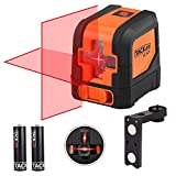 Laser Level, Tacklife SC-L01 15M Self-Leveling Cross Line Laser with Dual Laser Heads, 360° Horizontal and Vertical Laser, Flexible Swivel Magnetic Base, Canvas Carry Bag and Batteries Included, IP54