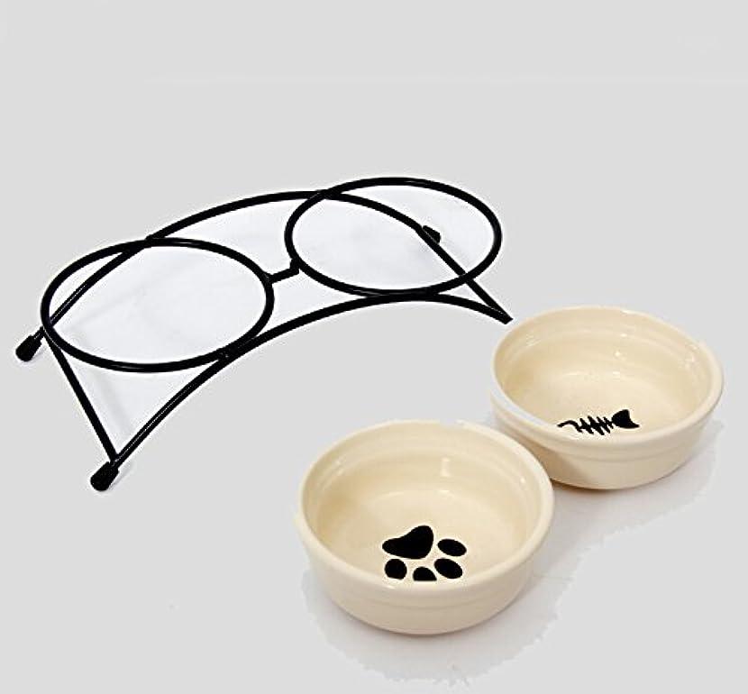 きくばり オシャレ 犬 イヌ 容器 えさ 給水器 給餌器 フード 容器 食器 スタンド ペット用 フードスタンド付き フードボウル LWS-5330