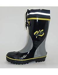 弘進ゴム オリジナル安全長靴 KSワーカー319 ブラック 艶付タイプ 鋼鉄先芯