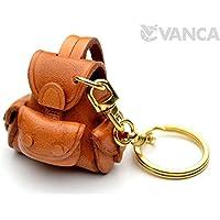 リュックサック 本革製 立体キーホルダー VANCA CRAFT 革物語 (日本製 ハンドメイド)