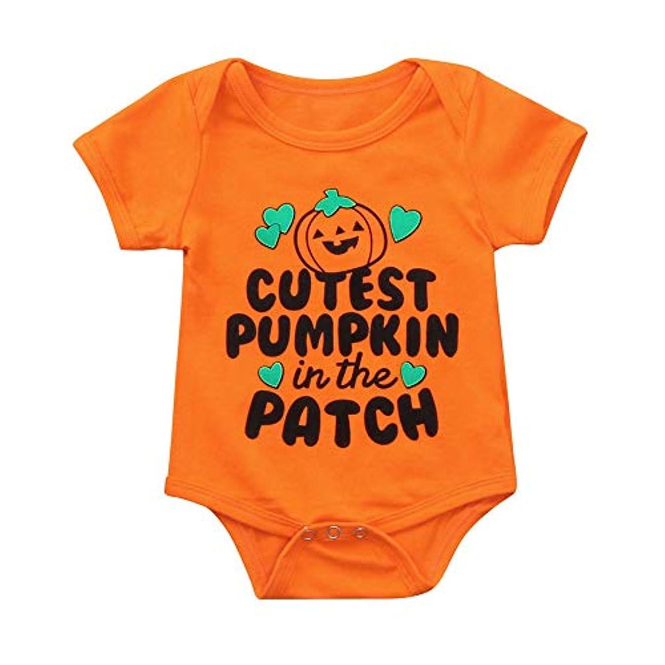 継続中表示表示Wyntroy ベビー服 Halloween ハロウィーンの衣装 新生児 素敵な 半袖 ロンパース 可愛い かぼちゃ南瓜柄 ベビージャンプスーツ ベビートップス ハロウィン 出産祝い 赤ちゃん お祝いの ベビースーツ シャツ