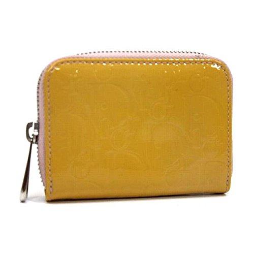 (クリスチャン・ディオール) Christian Dior アルティメイト パテント ミニ ラウンドジップコインケース ピンク系 KK [中古]