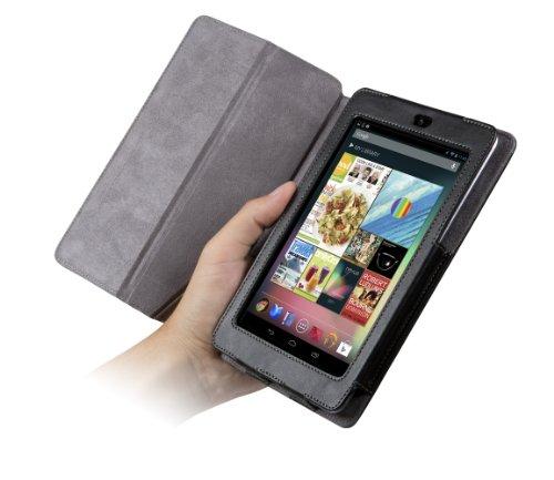 Chil NotchbookプレミアムレザーFolio for Google Nexus 7–ブラック( 0112–4238)