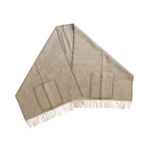 [ラプアンカンクリ]Lapuan Kankurit ポケット付き ショール 60x180 MARIA(柄物) ブラウン/ホワイト [並行輸入品]