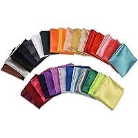 I-MART Pack of 30 Mens Solid Mixed Color Pocket Squares Set Wedding Handkerchiefs