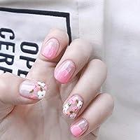 SIFASHION 24PCS 美しい少女 色柄 青春の気分が 流行色 ネイルチップ つけ爪