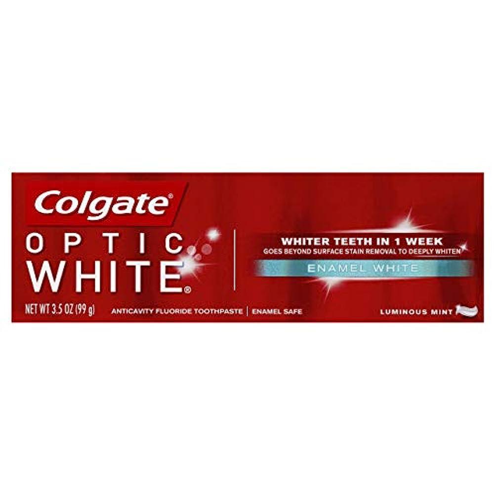 シンプルなパステル換気Colgate オプティックホワイトハミガキ、エナメルホワイト、3.5オンス(6パック)