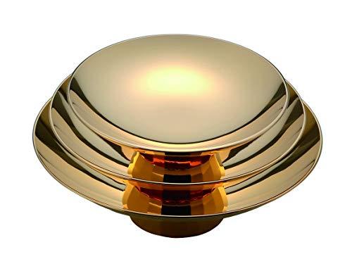 竹中銅器 盃 金 Φ12.5cm/Φ10.5cm/Φ9.0cm 金杯平三ツ重 12.5/10.5/9.0cm 175-53