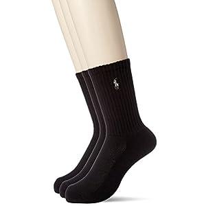 [ポロ ラルフ ローレン]靴下 3足セット メンズ BLACK US F (FREE サイズ) [並行輸入品]