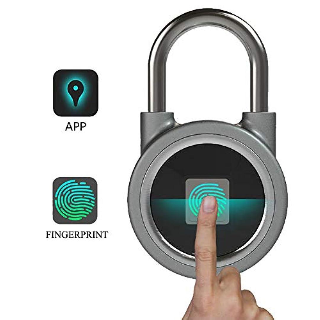 こする伝染性カップポータブル Bluetooth 指紋南京錠、USB 充電電子セキュリティロックバイオメトリックロッククイックアクセス Ketless 金属、盗難防止ドアロック、リモートアプリロック解除、スマート追跡ロック