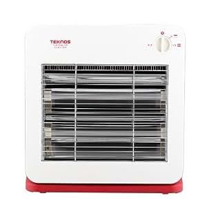 TEKNOS 薄型デザイン 温度2段階切替式 電気ストーブ ES-K710(R)