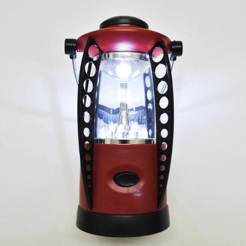 18灯LEDランタン 電池式 赤 MX-LMT0808B