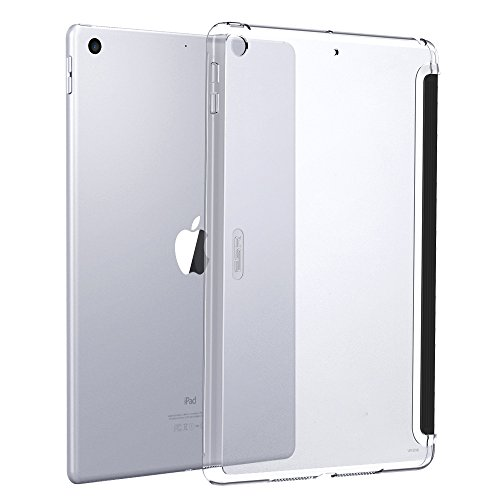 ESR 新しい iPad 9.7 2017/2018 バックカバー [改進版 Smart Cover対応] クリア 透明 スクラッチ防止 指紋...