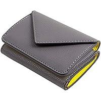 9d892bd15154 MALTA 三つ折り財布 ミニ財布 メンズ レディース コンパクト 小さい 財布 レザー 牛革 ボタン型 小銭
