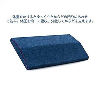 腰枕 QUETA 低反発腰枕 反り腰 平背 足のむくみ 安眠枕 体圧分散 足枕 膝枕 足腰枕 洗える