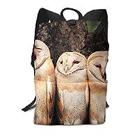 バックパックリュックサックラップトップバッグ 大容量 カジュアルバッグ Baby フクロウ 赤ちゃん 旅行バッグ 通学リュック メンズ レディース用バッグ