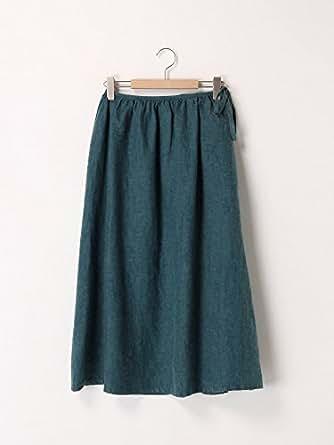 (サマンサモスモス)SM2 リネンギャザースカート グリーン F