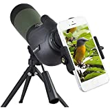 Gosky 20-60 X 80 Porro Prism Spotting Scope- Waterproof Scope for Bird Watching Target Shooting Archery Range Outdoor Activit