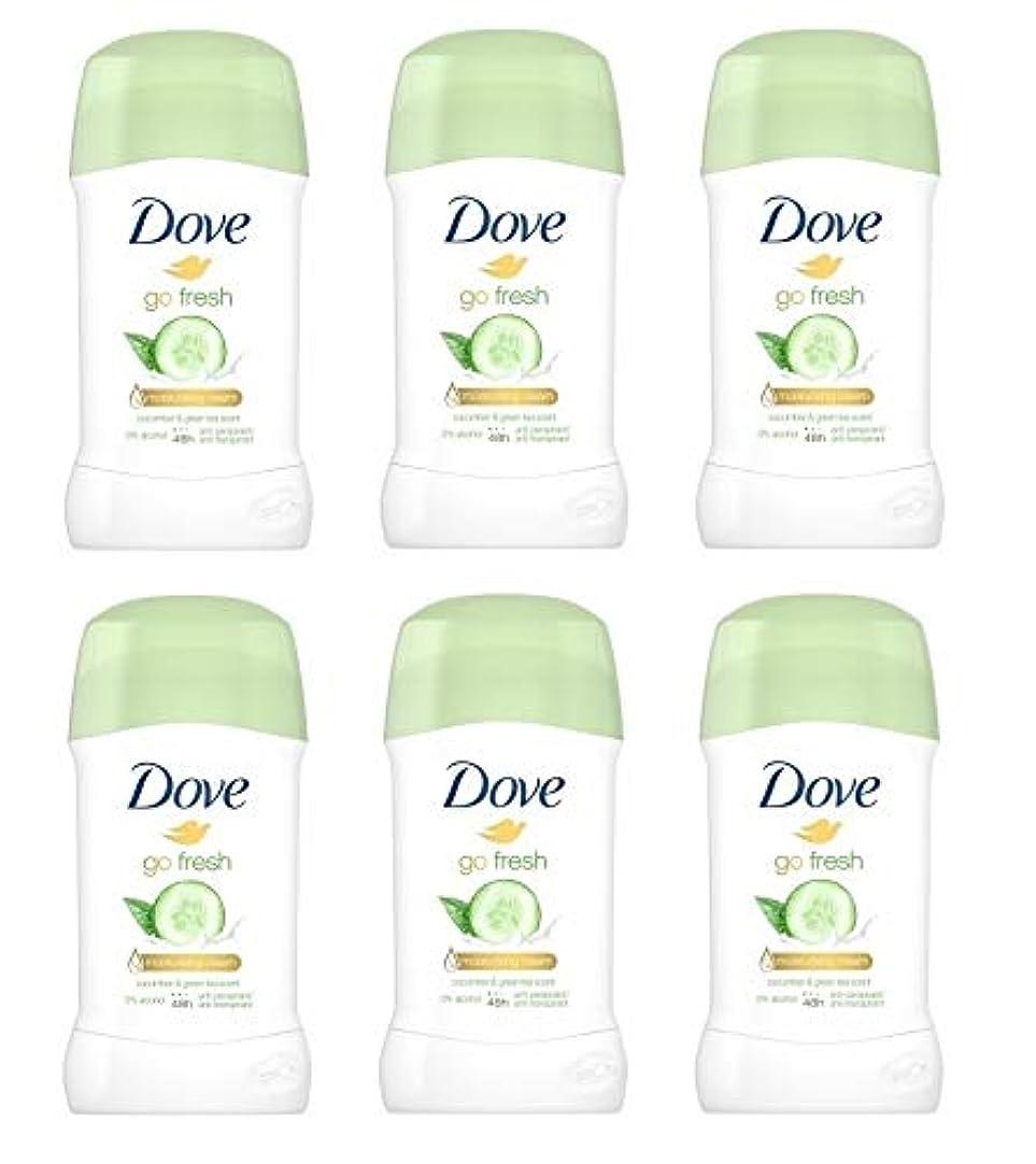 不透明な歌手つぼみ(6パック) ドーブ新鮮になきゅうりそして緑茶香り制汗剤デオドラントスティック女性の為に - (Pack of 6) Dove Go Fresh Cucumber & Green Tea Scent Anti-perspirant...