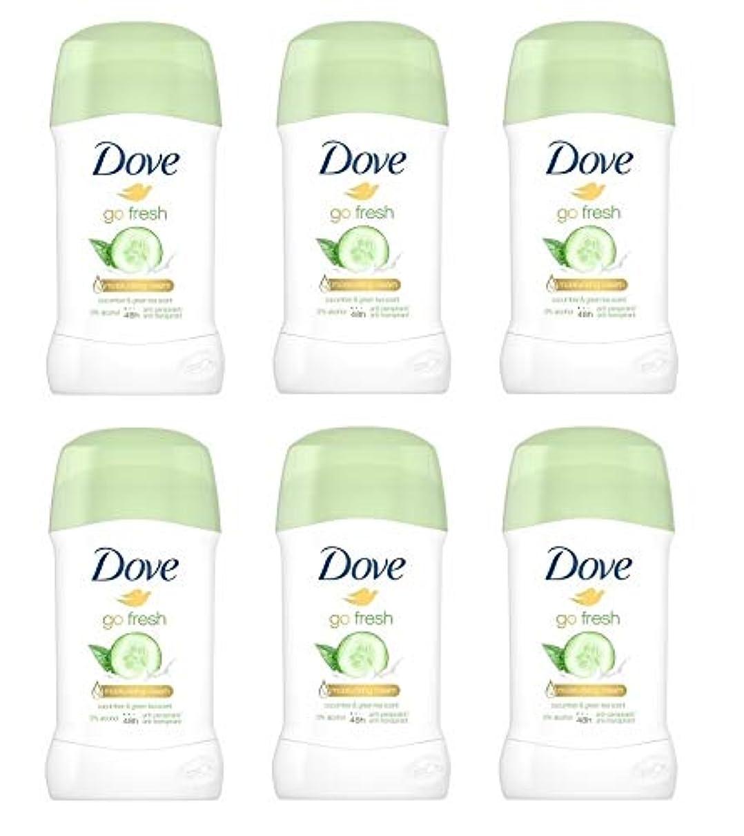 領収書槍管理する(6パック) ドーブ新鮮になきゅうりそして緑茶香り制汗剤デオドラントスティック女性の為に - (Pack of 6) Dove Go Fresh Cucumber & Green Tea Scent Anti-perspirant...