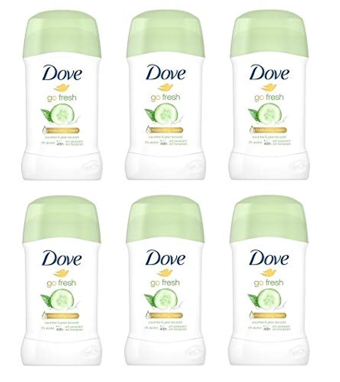 編集する惑星ずんぐりした(6パック) ドーブ新鮮になきゅうりそして緑茶香り制汗剤デオドラントスティック女性の為に - (Pack of 6) Dove Go Fresh Cucumber & Green Tea Scent Anti-perspirant...