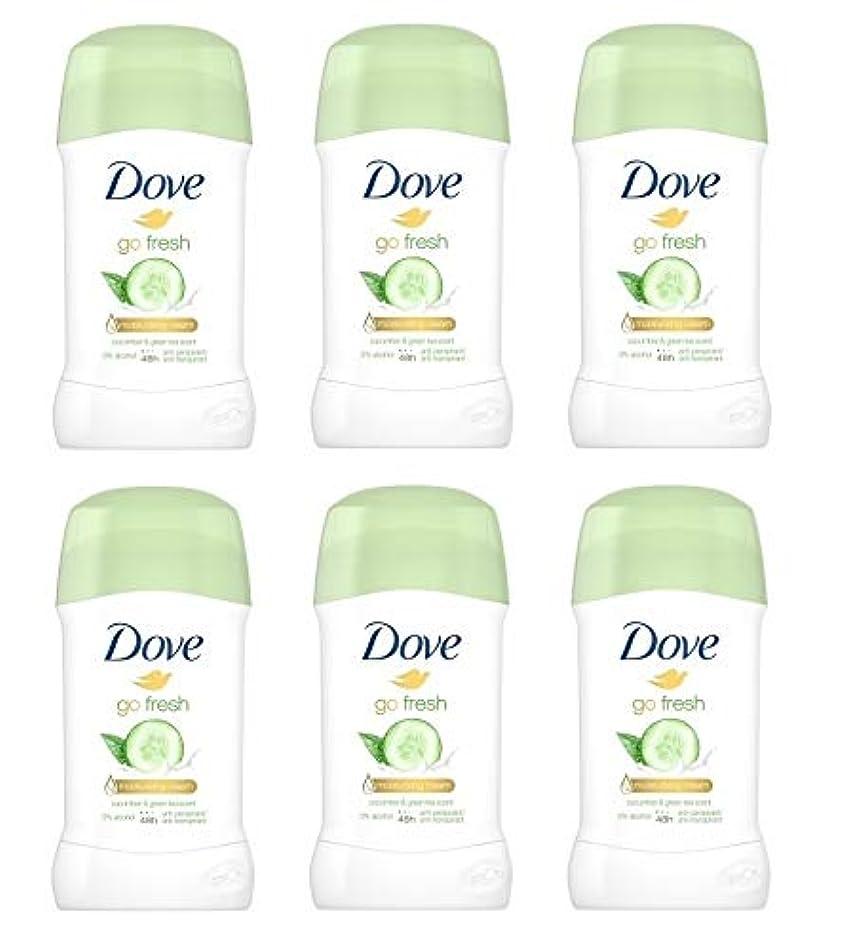 分解する評価可能展示会(6パック) ドーブ新鮮になきゅうりそして緑茶香り制汗剤デオドラントスティック女性の為に - (Pack of 6) Dove Go Fresh Cucumber & Green Tea Scent Anti-perspirant...