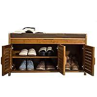 木製の靴のベンチ、家庭用多層靴キャビネット多機能防塵ロッカー (サイズ さいず : 90*32.5*49cm)