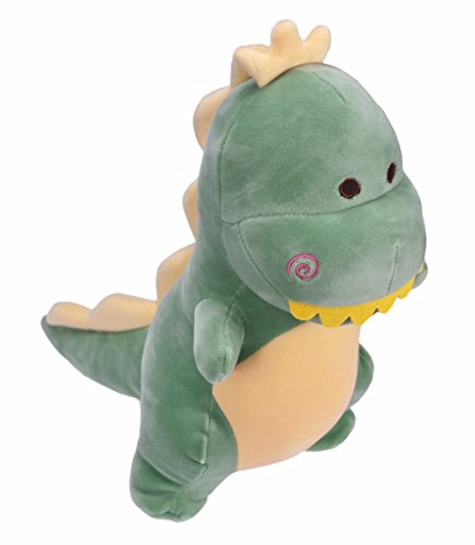 HWD 恐竜のぬいぐるみ 30cm 高動物 おすわり シリーズ [やさしい手触り] お人形 (緑)