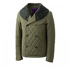 Liberty London Quilted Shawl Collar Jacket 70095: Olive