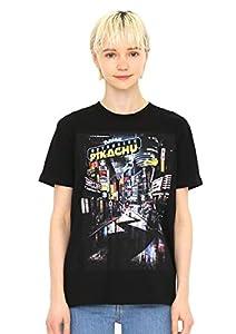 (グラニフ) graniph Tシャツ ポスター (映画「名探偵 ピカチュウ」) (ブラック) メンズ レディース SS (g01) (g14) #おそろいコーデ