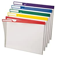 Clear Poly Index Folders, Letter, Assorted Colors, 10/Pack (並行輸入品)