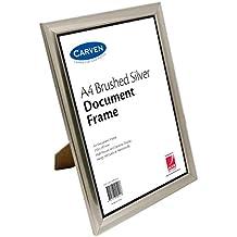 CARVEN QFBRSILVA4 Document Frame, Brushed Silver A4