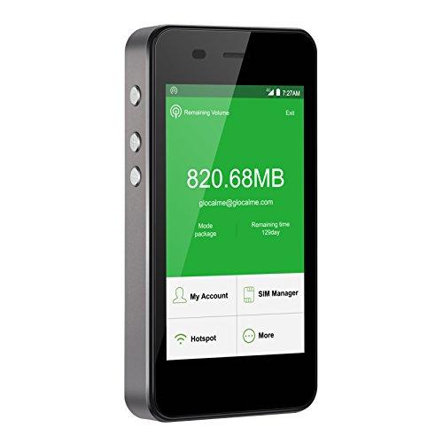 GlocalMe G3 モバイル Wi-Fi ルーター 高速4G LTE ポケットwifi simフリー フリーローミング 国内・海外旅行最適 iPhone・Xperia・HTC・Galaxy・iPadなど対応 内蔵5350mAh大容量のモバイルバッテリー(ブラック)