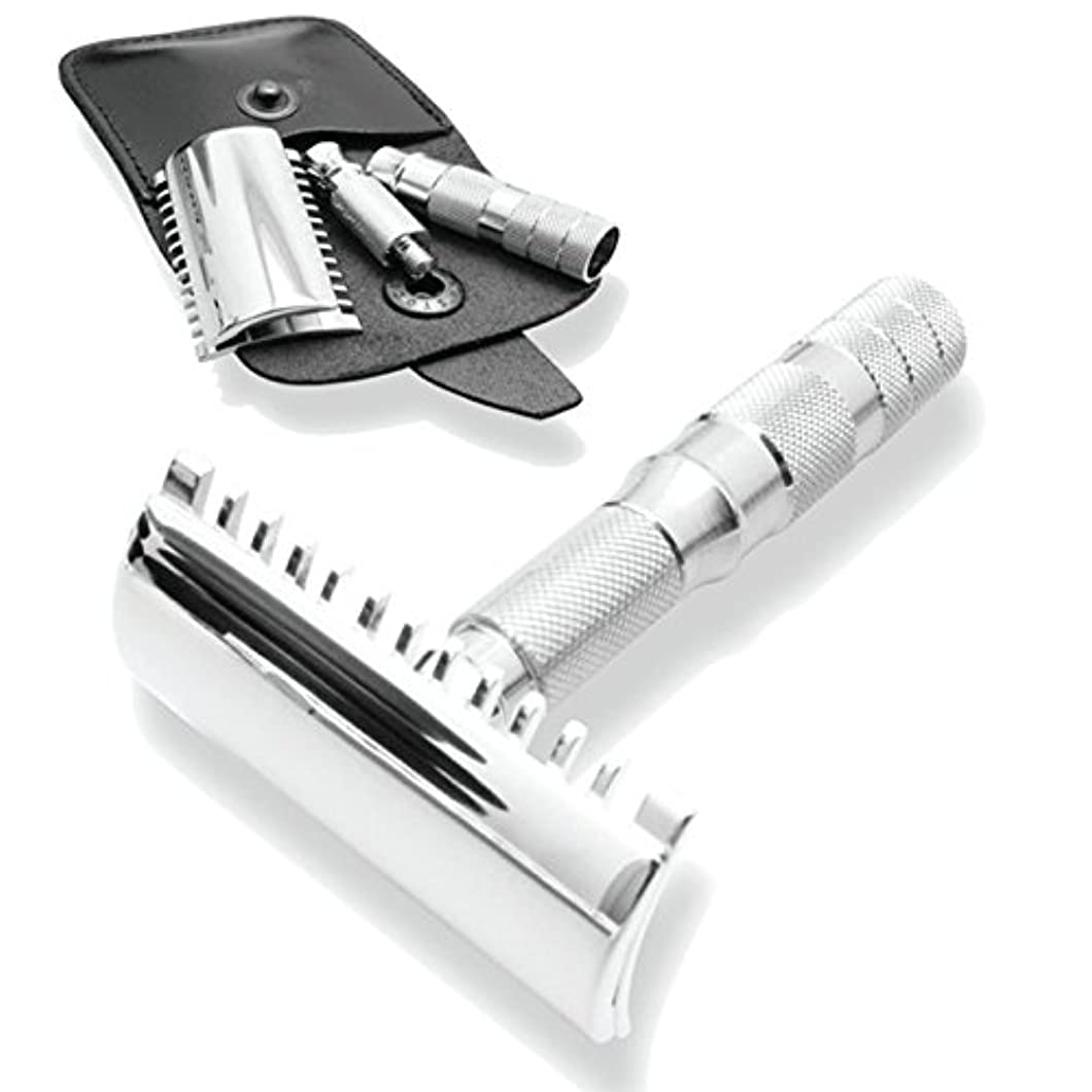 アクティブ周波数カバーMerkur & Dovo Open Tooth Comb Travel Razor