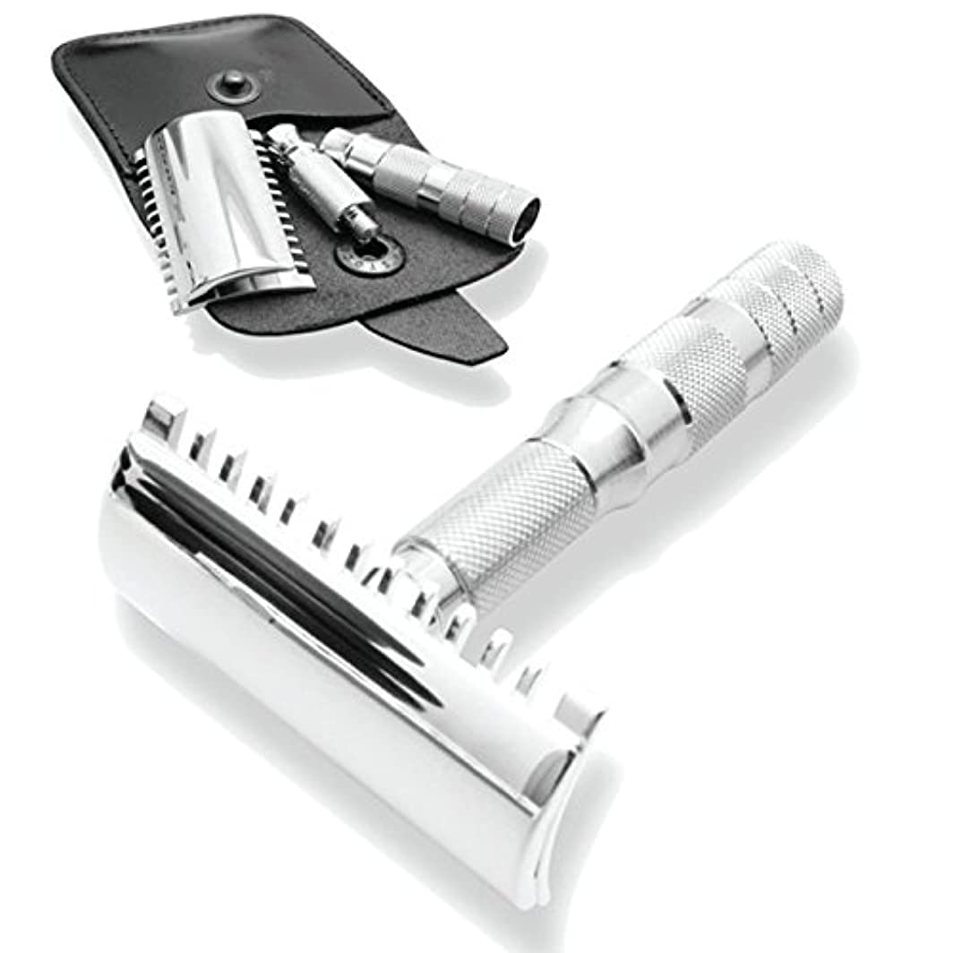 ヤング酸度前置詞Merkur & Dovo Open Tooth Comb Travel Razor