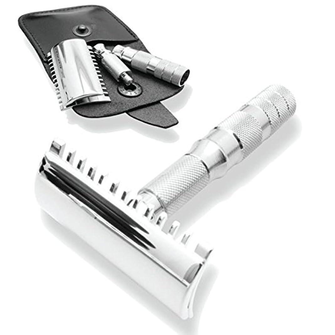 消毒剤ピジン修正するMerkur & Dovo Open Tooth Comb Travel Razor