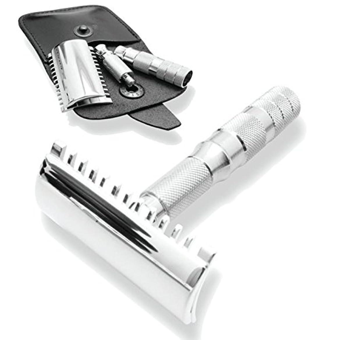 夫婦良さペストMerkur & Dovo Open Tooth Comb Travel Razor