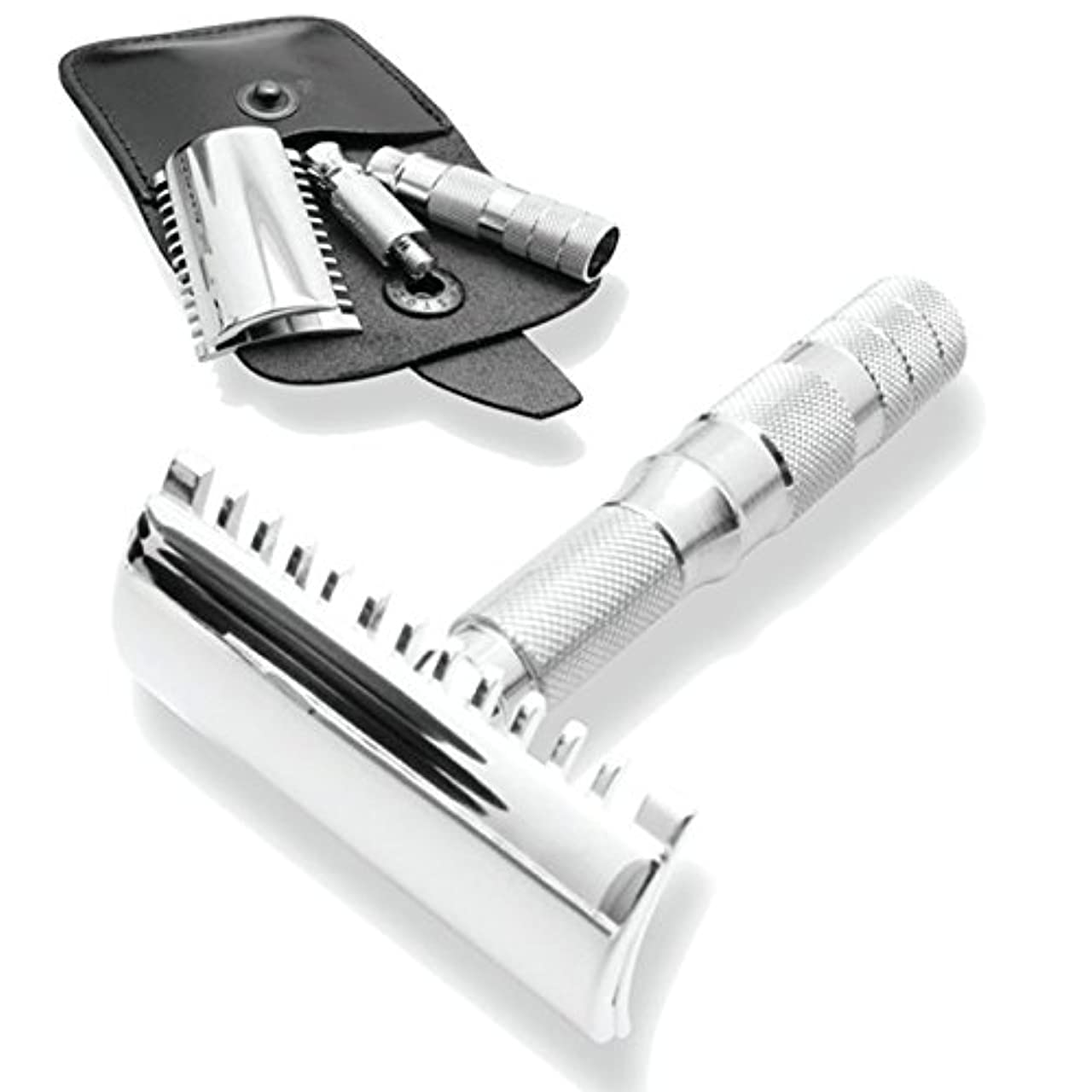 宿泊偽物里親Merkur & Dovo Open Tooth Comb Travel Razor