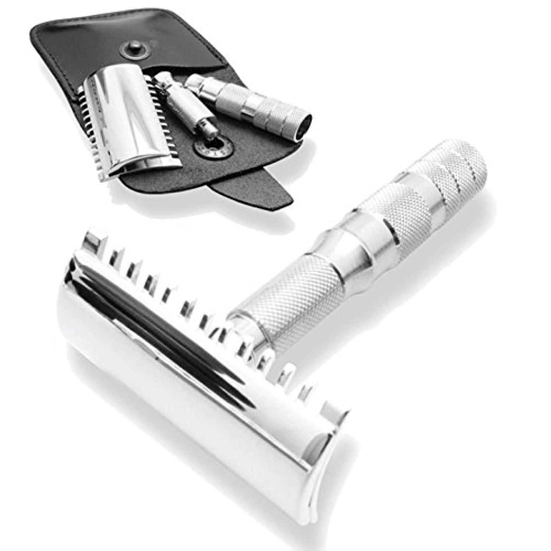 革命四面体悲しむMerkur & Dovo Open Tooth Comb Travel Razor