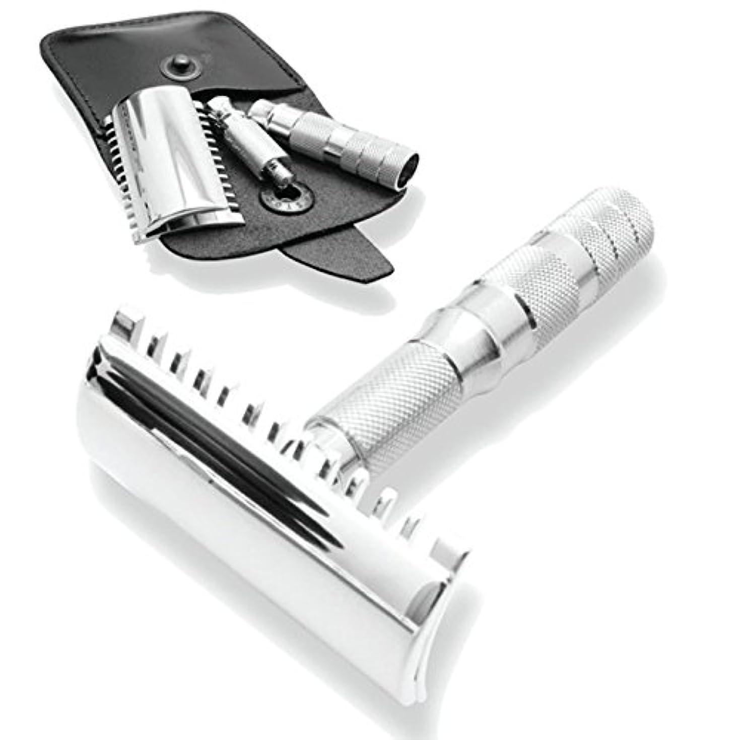 正確な恐怖お互いMerkur & Dovo Open Tooth Comb Travel Razor